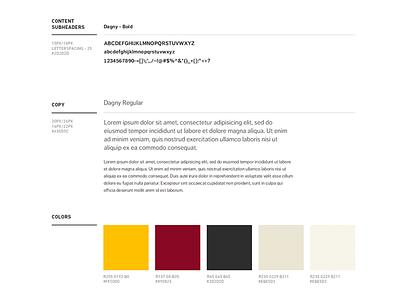 Ater Wynne styleguide style guide style guide typography
