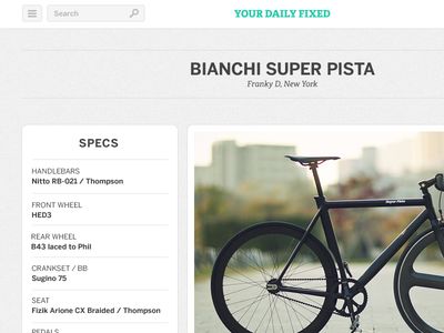Your Daily Fixed header and specs ui header list