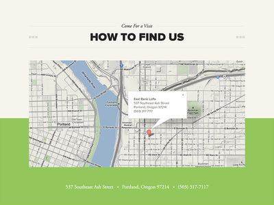 East Bank Lofts map map footer