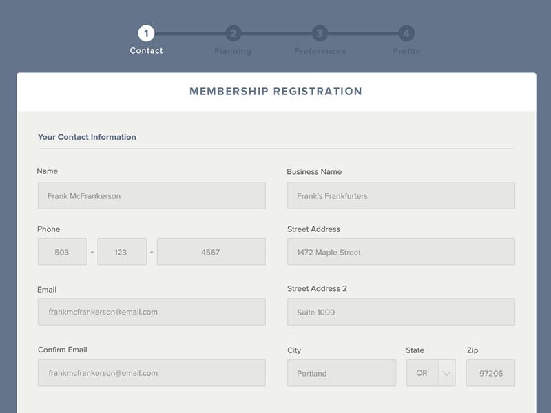 Fp register contact