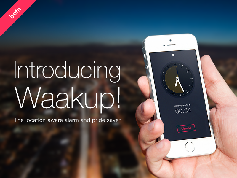 Waakup! - Location Aware Alarm app clock alarm iphone