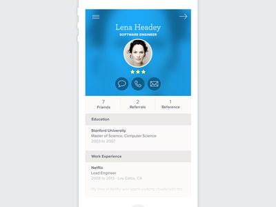 Mcruiter (Mobile Recruiter) app iphone more circle headshots