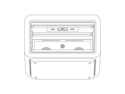 June Oven illustrations technical illustation technical line drawing vector oven outline illustration outline illustration