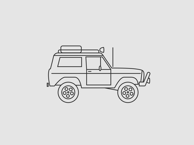 Ford Bronco line art overlandr overland ford bronco bronco ford icon outline glyph illustration