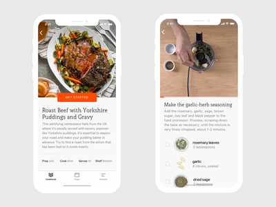 June Oven Recipes execution recipes product product design iphone ui app