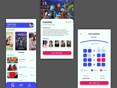 Movie Dashboard and Detail detail dashboard movie apps mobile