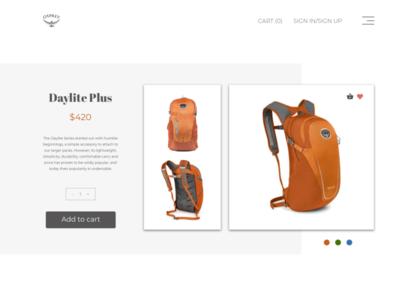 Price card backpack price ui ux design
