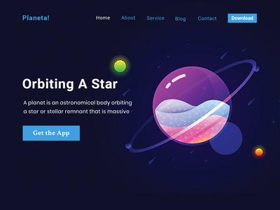Planeta Planet App Website Concept