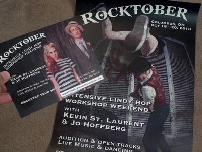 Rocktober 2013 Postcard + Poster Commission commission graphic design postcard poster swingcolumbus
