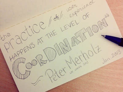 Merholz Quote sketchnotes hand lettering pencil