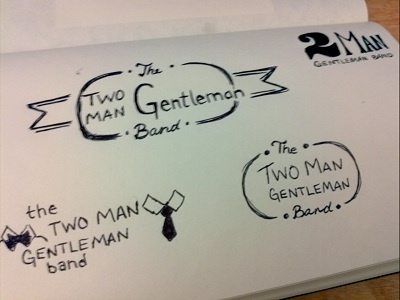 Two Man Gentleman Band concepts logo band concepts
