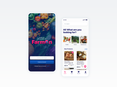 FarmOn Brand Identity and mobile UI/UX Design