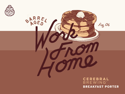Work From Home 2020 waffle brewery coronavirus colorado packaging illustration lettering branding