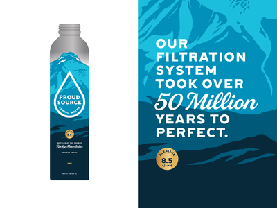 Rocky Mountain Water illustration vector logo water idaho mountain typography branding packaging