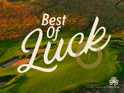 Best Of Luck tagline wisconsin celtic logo layout campaign