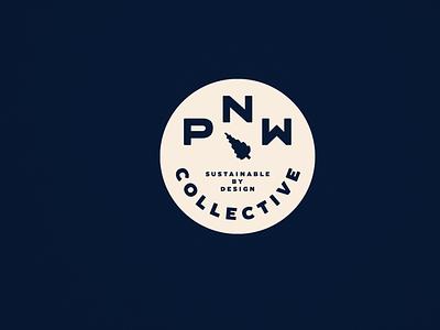 PNW Collective vector compass tree branding washington badge logo