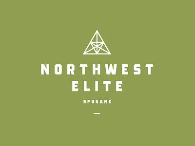 Northwest Elite spokane washington therapy icon typography branding vector logo