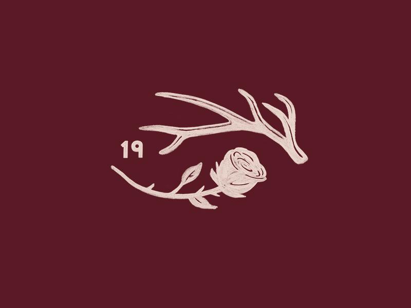 Save The Date branding save the date colorado elk antler 2019 illustration badge rose logo wedding
