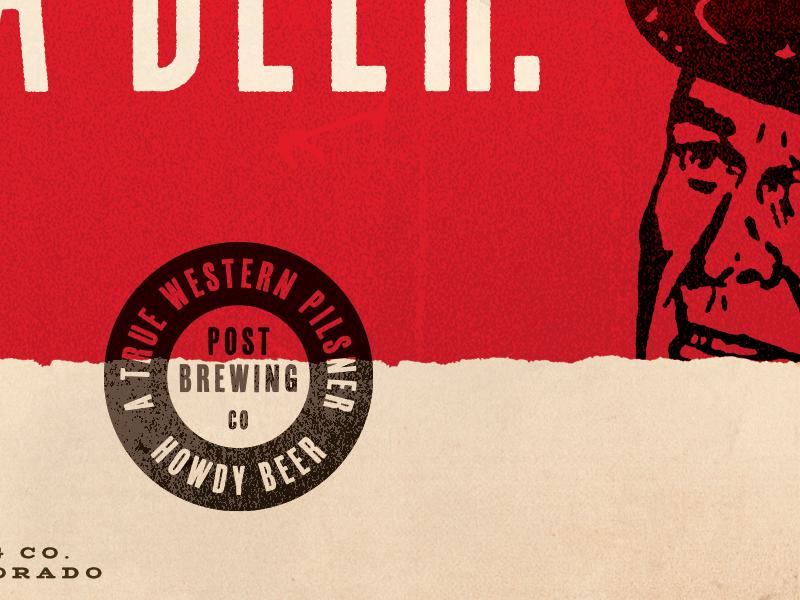 A True Western Pilsner colorado torn badge texture cowboy western beer