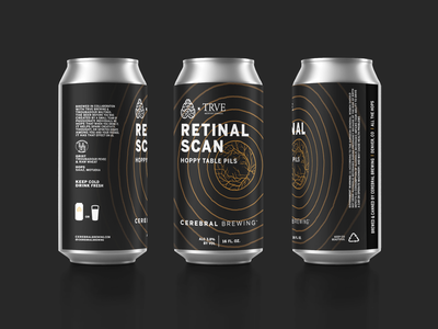 Retinal Scan black can eye science design packaging beer typography