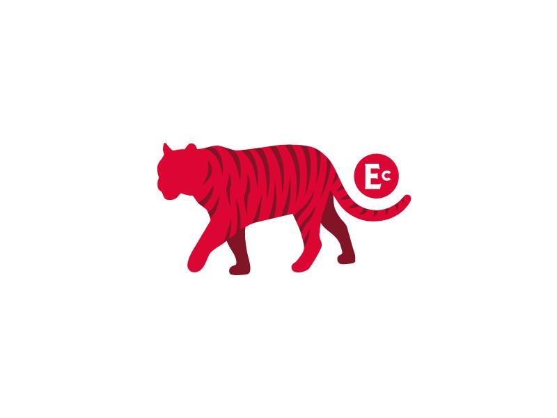 Stalking mascot vector branding tiger logo