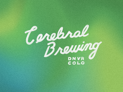 Cerebral Brewing denver colorado brewery beer gradient noise lettering