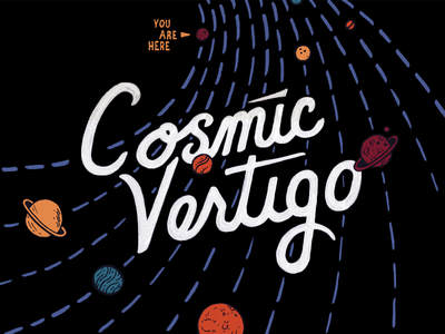 Cosmic Vertigo denver brewery packaging planets label space beer