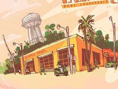 F.A.T. illustration illustrator urban cityscape digital illustration