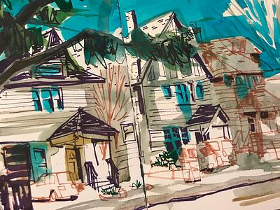 Craftsman house architecture sketchbook