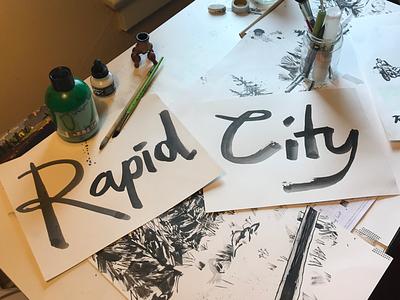 Rapid City typography type calligraphy traditional