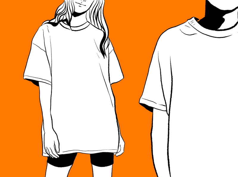 t-shirts t shirt orange raster cartoon design illustration