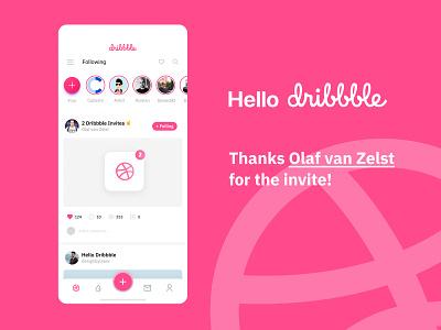 Hello Dribbble! app ux web design ui first post first shot first hello dribbble hello dribble hello world hello
