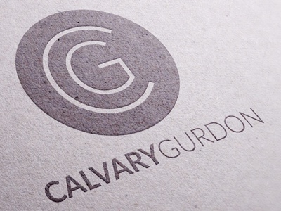 Calvary Gurdon non-profit church logo design branding