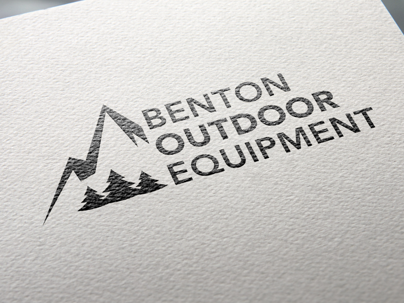 Benton Outdoor Equipment outdoor equipment local logo design branding