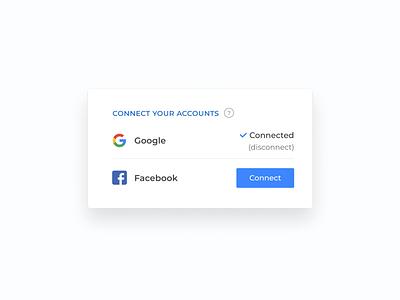 Connect your accounts ui design ui  ux design ui social design concept component