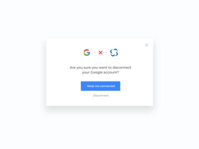 Social account disconnection modal