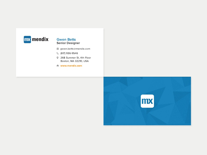 Mendix Business Cards print design graohic design design mendix cards business cards