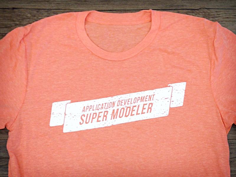 TSHIRT TIME - Super Modeler orange development application shirt tshirt mendix