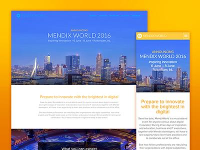Mendix World 2016 Website