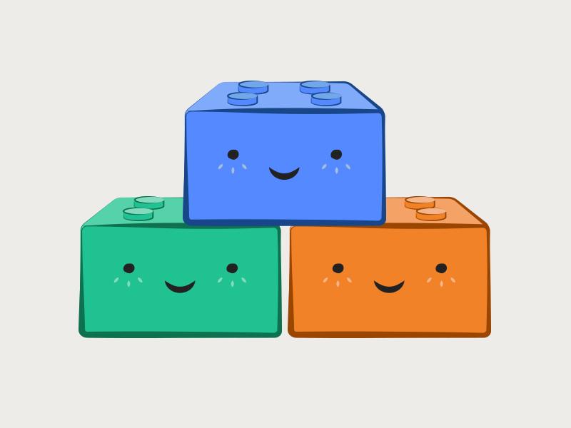 Cute Little Building Blocks plugins illustration legos blocks komand