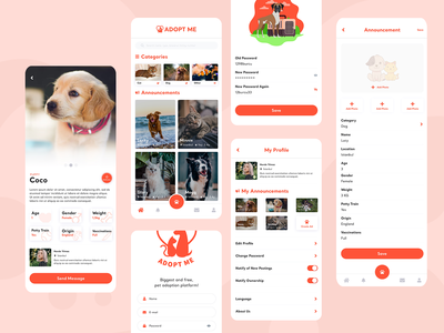 Adopt Me Mobil App Design