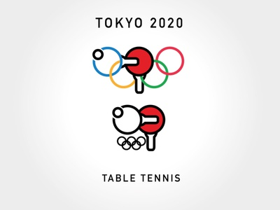 table tennis Olympic logo graphic design logo vector design