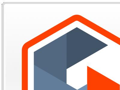 Logo icon logo minimal white red blue folded iris