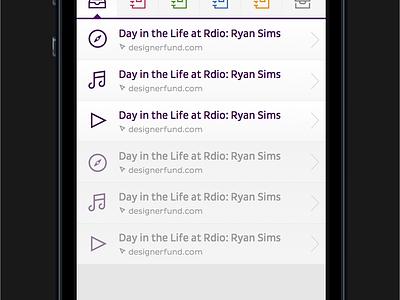 App Main ios iphone app ui purple yellow interface screen pluto