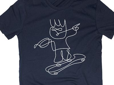 Oneliner Wave t-shirt tshirt line unicef charity syria kids navy blue school