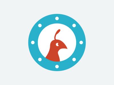 Partridge icon app blue red white