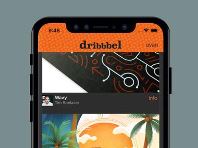 Dribbbel iphone dribbble orange app ios