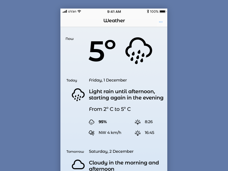 Weather Essentials 002 weather minimal iphone ios blue app
