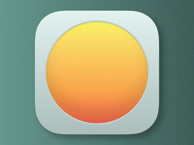 Weather Essentials App Icon 001 icon app teal ios iphone minimal weather
