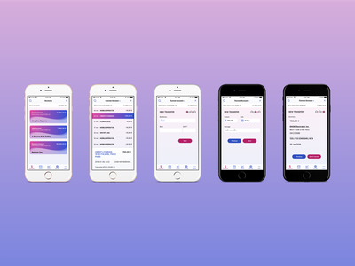 New bank app flow, v3. animation sketch prototype ui iphone flinto